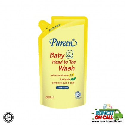 PUREEN BABY HEAD TO TOE REFILL PACK 600ml